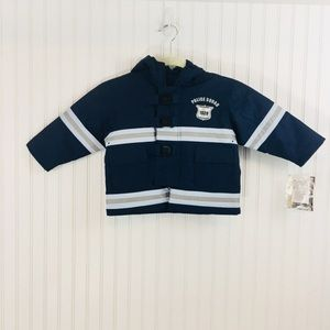 NWT Carters policeman reflective jacket costume 2T